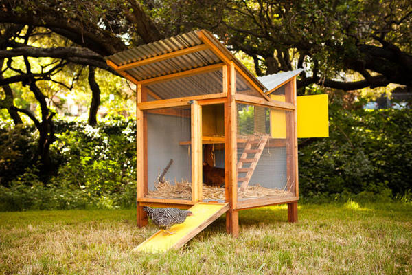 Chick-in-a-Box was designed by Bay Area designers Kevin McElroy and Matthew Wolpe of Just Fine Design/Build.