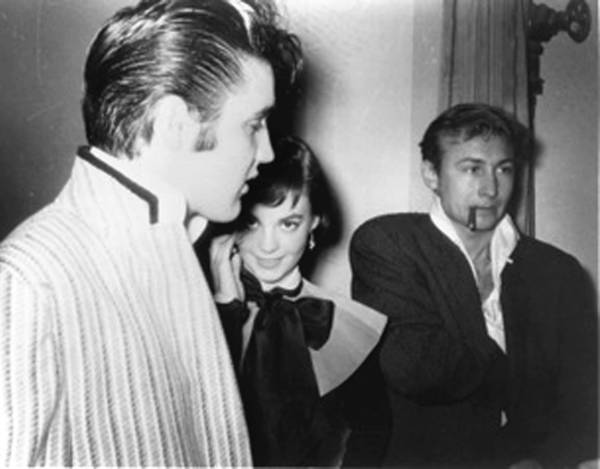 Elvis Presley, left, Natalie Wood and Nick Adams in 1956.