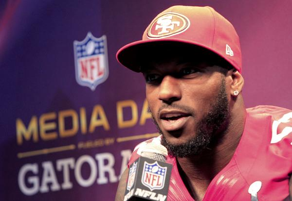 49ers linebacker Patrick Willis during Media Day on Tuesday.