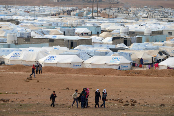 Camp in Jordan is now home to record numbers of Syrians fleeing violence and bombings. As winter descends, donor nations are raising more aid.