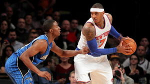Glen Davis fractures left foot as the Magic fall to the Knicks 113-97