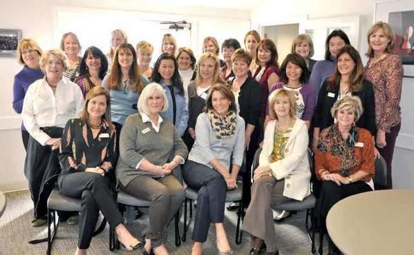 Members of the Los Altos Auxiliary of Hathaway-Sycamores recently attended the dedication of a new Cyber Caf&etilde; they helped make possible at the agency's El Nido campus. Seated, from left, Terri Rothe, Maureen Railsback, Pam MacDonald, Diane Poryes and Karen Sellergren; second row, from left: Sue Slater, Karen Sarian, Susie Ratliff, Joy Padula, Joy Lang, Kelly Williams and Andi Sica; third row, from left, Kathy MacDonald, Michelle Listo, Kelly Springer, Debbie Chacon, Ann Gupta, Linda Yaussi, Julie McCarty, Ines Nyby and Kerri Salter; back row, from left, Laurie Rodli, Jennifer Herzer, Melissa Oechsel, Carol DeFond and Sue Perry.