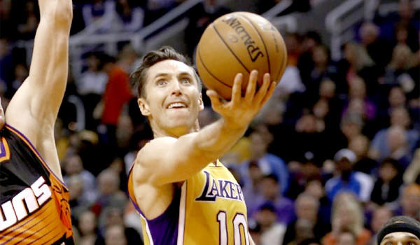 Lakers guard Steve Nash turned 39 on Thursday. He is currently the fourth oldest active player in the NBA.