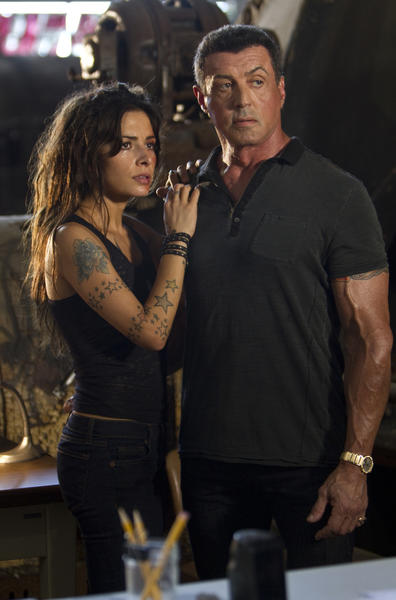 """Sarah Shahl and Sylvester Stallone star in """"Bullet to the Head."""""""