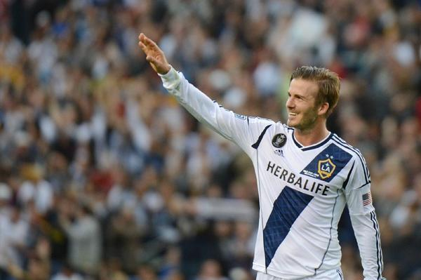 David Beckham walks off the field after playing his final game with the Galaxy in December.