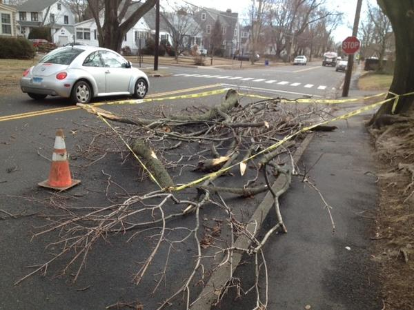 Damage on Benson Road in Fairfield.