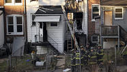 Baltimore row house fire