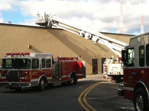 Firefighters respond to the Whitehall Mall after a malfunctioning machine filling the building with smoke on Thursday morning.