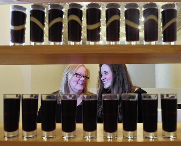Chocolatiers Sherri and Lauren Athay created Truffle Shots in Essex.