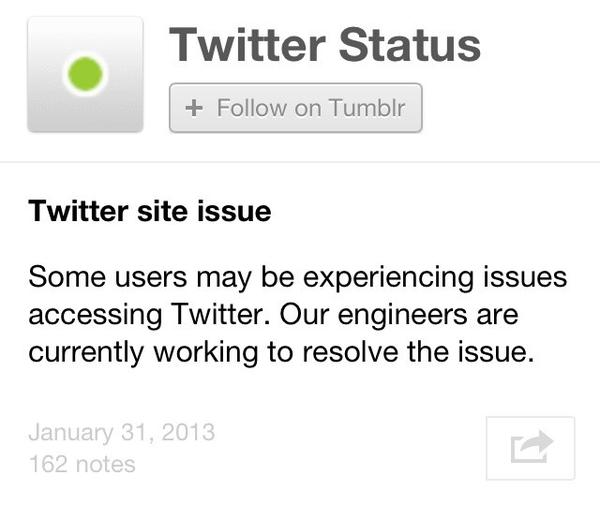 Twitter said some users were having trouble accessing its social network Thursday morning.