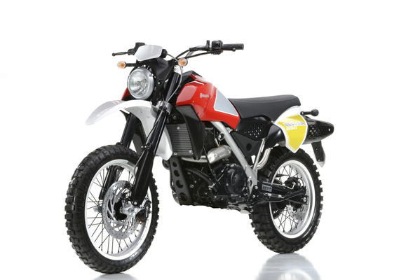 A prototype of Husqvarna's Baja line, part of the Husky line sold by BMW to Pierer Industrie of Austria -- owned by KTM chief executive Stephan Pierer.