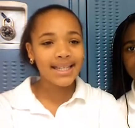 "Hadiyah Pendleton in a YouTube video titled ""iRemix PSA: GANG VIOLENCE,"" tells kids to stay away from gangs."
