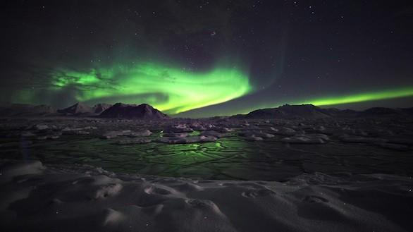 Viewing the Northern Lights in Iceland.