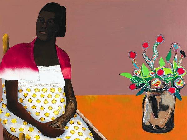 "The Mennello's new exhibit includes ""Portrait of a Black Madonna"" by Benny Andrews."