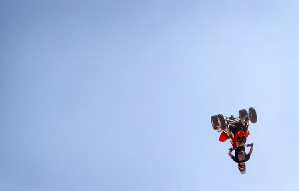 Caleb Moore performs on a quad bike during Burn Ciutatthe de Palma exhibition on the Spanish island of Mallorca in 2008.