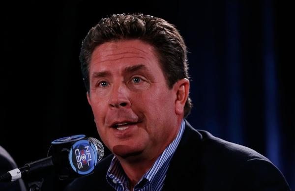 Dan Marino during Super Bowl media day on Tuesday.