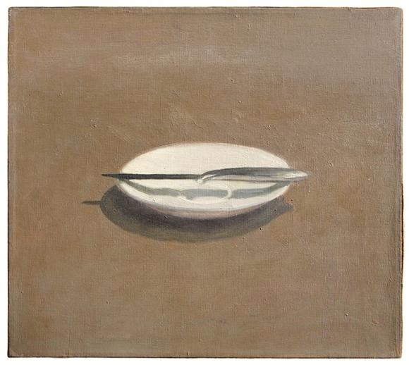 Early Vija Celmins painting