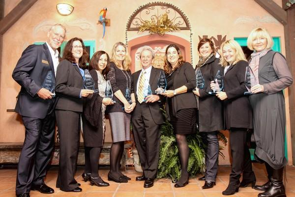 Winners of the 2013 Spirit Awards, which the Chamber of Commerce presented to recipients Jan. 25.