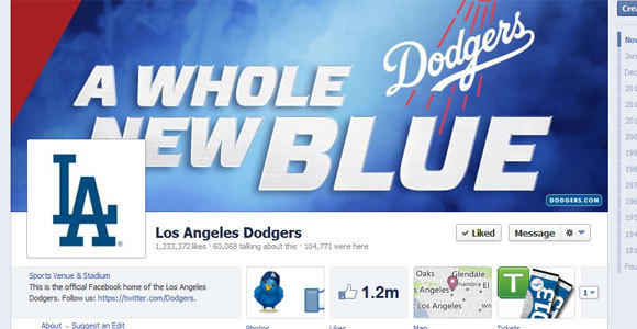 The Dodgers' Facebook page.