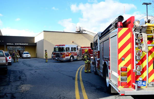 Whitehall firefighters respond to the Whitehall Mall for reports of a malfunctioning machine and that the mall is filling with smoke Thursday.