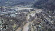 PHOTOS: Aerial shots of Roanoke River flooding