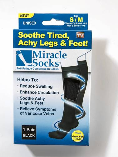 "Miracle Socks, $10, <a href=""http://getmiraclesocks.com""><b>getmiraclesocks.com</b></a><br><br>