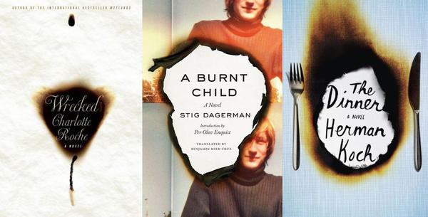 What these three books have in common is their torched covers.