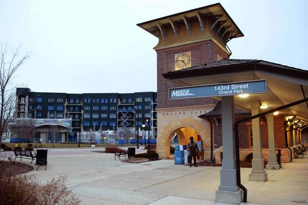 Orland Park's 143rd Street Metra Station will anchor a pedestrian-friendly downtown district near 143rd Street and La Grange Road. As luxury apartment complex Ninety7Fifty nears completion, village officials say they're talking with multiple businesses that are interested in future developments.