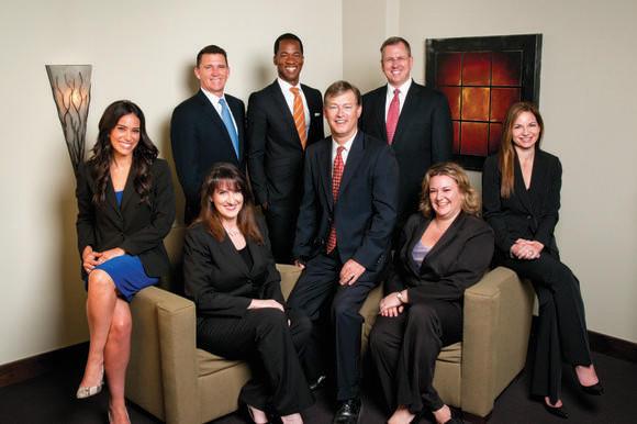 From left: Allison L. Stone, Jennifer P. Burkes, Stephen K. McElroy, Cioffi C. Remmer, C. Michael Alder, Scott E. Spell, Marni B. Folinsky, Laura F. Sedrish