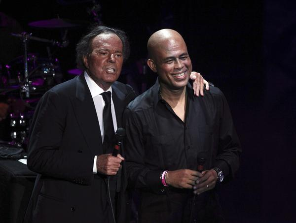 Julio Iglesias and Michel Martelly