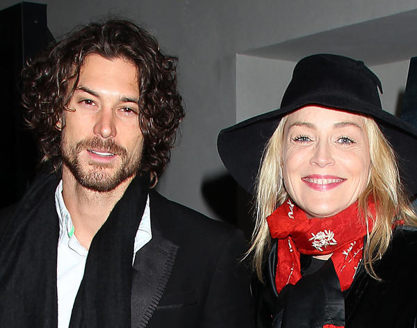"Sharon Stone with boyfriend Martin Mica at a December screening of ""Les Miserables"" in Los Angeles."
