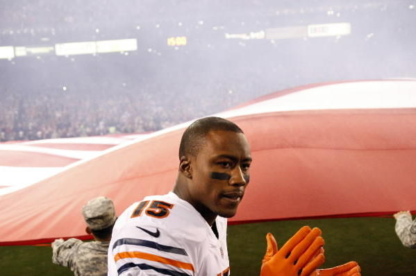 Brandon Marshall helped surprise 100 Chicago teachers with school supplies Thursday.