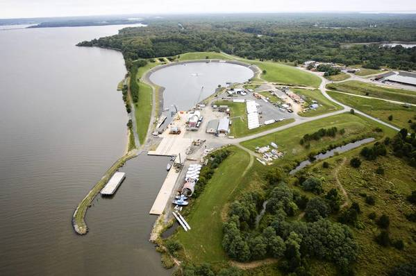 "An aerial view supplied by the Army of Aberdeen Proving Ground's UNDEX Testing Facility, commonly known as the ""Super Pond,"" where two divers died Tuesday, the Army said. Another diver died on Jan. 30."