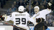 The Ducks have taken their best swing at the NHL's best team, and having the San Jose Sharks so backed to the ropes before a shootout loss this week has the team enthused about its prospects.