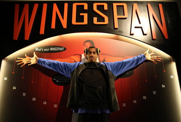 Simeon senior Russell Woods poses at the National Basketball Hall of Fame in Springfield, Mass., earlier this year.