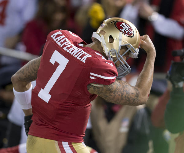 San Francisco 49ers quarterback Colin Kaepernick turned down the Cubs.