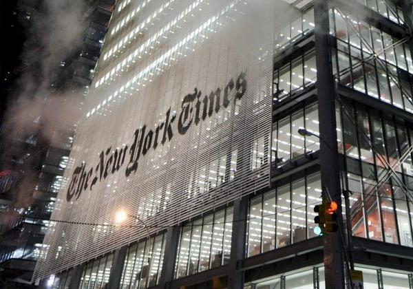 The New York Times headquarters in New York