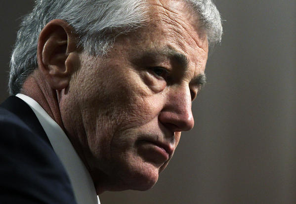 Former Sen. Chuck Hagel (R-Neb.) testifies before the Senate Armed Services Committee during his confirmation hearing to become the next secretary of defense on Capitol Hill.