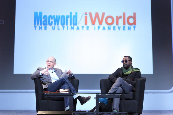 "Brian David Johnson, Intel Futurist, and singer Will.i.am talk ""futurehunting"" at Macworld."