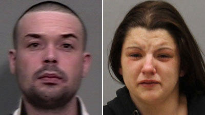 Police said Bryan Connors and Jacqueline Melcher tried to break into an occupied home in Vernon.
