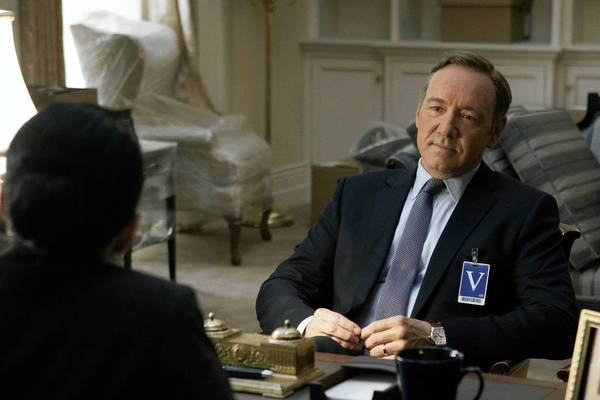 "A scene from Netflix's political thriller ""House of Cards,"" which stars actor Kevin Spacey as a ruthless, scheming House majority whip. In a departure from television tradition, the entire season of ""House of Cards"" will be available at once."