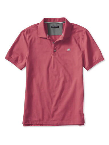 The Signature pique polo in red heather from Banana Republic.