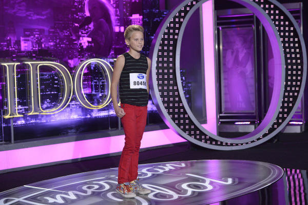 """Contestant Kayden Stephenson auditions in Oklahoma City on """"American Idol."""""""