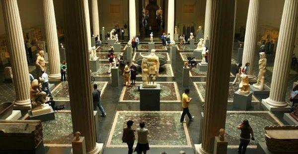 A view of the Metropolitan Museum of Art's Greek and Roman galleries. Works from throughout the museum are featured in a new video series on its websites in which 100 Met curators will each discuss a single work that changed how they see the world.