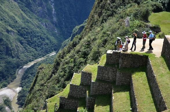Incan ruins at Machu Picchu in Peru.