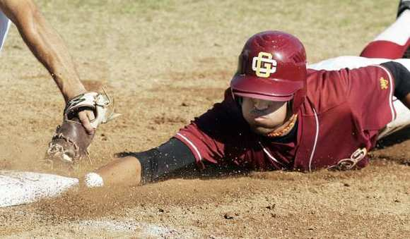 Glendale Community College baseball player Edgar Montes will look to be a threat in the Vaqueros lineup this year.