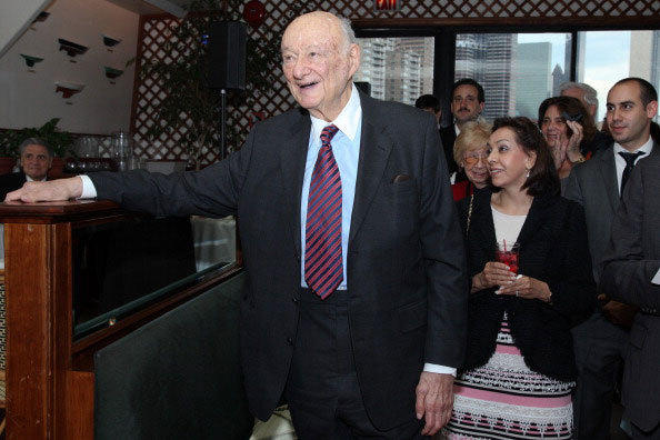 Ed Koch attends the renaming of the Queensboro Bridge in his honor at The Water Club Restaurant on May 19, 2011 in New York City.