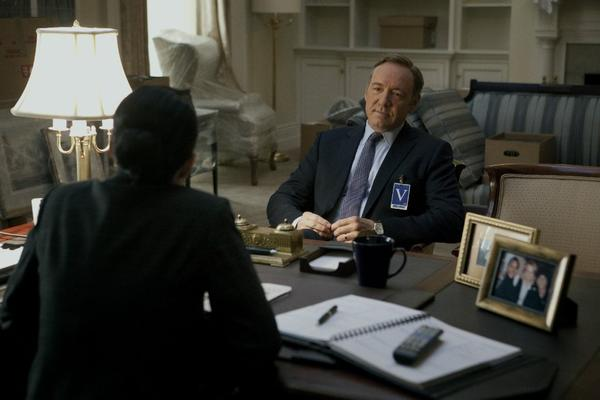 "Kevin Spacey in Netflix's ""House of Cards."""