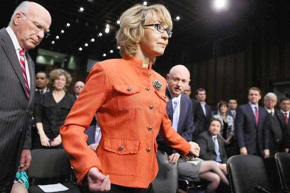 Gabrielle Giffords, Mark Kelly at Senate panel hearing on gun control