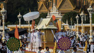 NEW DELHI -- Thousands of people lined the streets of Cambodia's capital Friday for the funeral of King Norodom Sihanouk, a controversial monarch who helped build the young nation after French rule before cozying up to the homicidal Khmer Rouge regime.